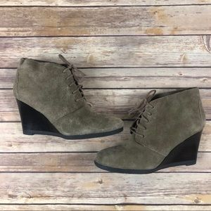 Franco Sarto Wedge Ankle Boots